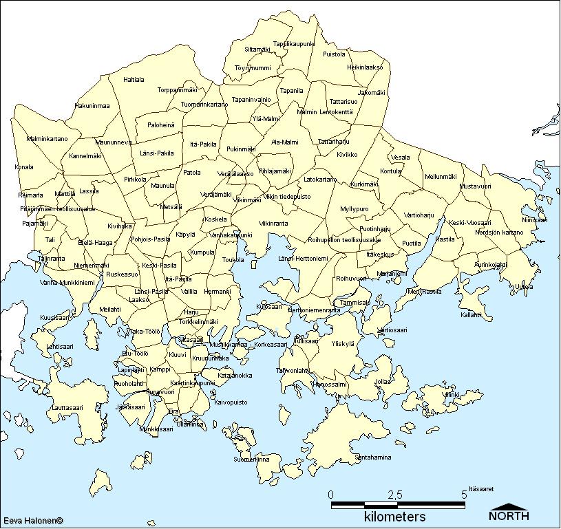Helsinki Kaupunginosat Kartta | Kartta